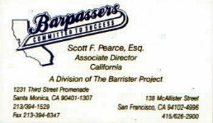 Scott Pearce Barpassers Business Card